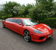 Ferrari Limo in Ince in Makerfield