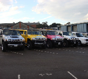 Jeep Limos and 4x4 Limos in Golbourne
